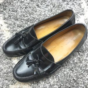 Cole Haan | Black Leather Pinch Tassel Loafers